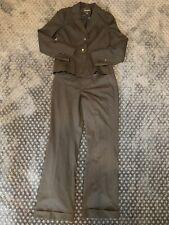 Banana Republic Ladies Wool Blend Black Pinstripe Pant Suit sz 6