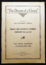 1934 PATCHOGUE NEW YORK WOMANS SOROSIS CLUB DREAM OF A CLOWN MALE DRAG PLAYERS