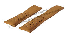 22mm L/brown PERFORATED Watch Strap / Band For TAG HEUER Spacex CAR2015 models