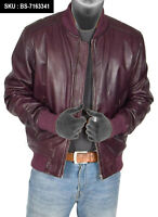HARRINGTON BLACK  Men/'s Bomber Style Classic Real Lambskin Leather Jacket 2454