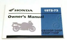 New Owners Manual OEM Reprint 72-73 CB 350 360 450 750 P Police Honda Book #M298