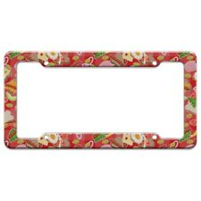 Messy Sandwich Pattern Bread Cheese Bacon Lettuce Egg Food License Plate Frame