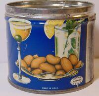 Vintage 1930s MR. PEANUT PLANTERS PEANUTS KEYWIND TIN Wilkes Barre Pennsylvania