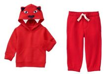 Gymboree Hop N Roll Red Tiger Hoodie & Fleece Active Pants Set Boys 5T NEW NWT