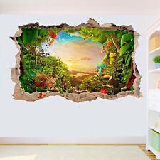 Jungle Animals Wall Stickers 3D Art Poster Decals Murals Kids Room Nursery SX4