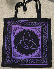 Black and Purple Celtic knots Triquetra Triqueta TOTE Wicca BAG FREE SHIPPING