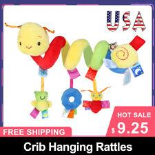 Kid Baby Crib Cot Pram Hanging Rattles Spiral Stroller&Car Seat Toy Ring Bell US