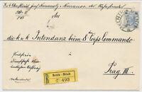 ÖSTERREICH 1901 25h REKO-BRIEF, MELNIK nach PRAG.