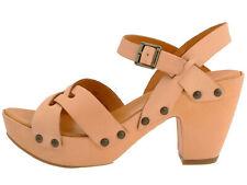 Kork Ease Deborah Leather Platform Sandals Heels Tan Natural 9 40.5 Pre-Owned
