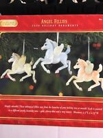 Breyer Angel Fillies 2004 Holiday Ornaments 3 pack -iridescence pearl colors NOS