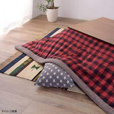 FUTON Kotatsu Table Comforter Checkered Red & Black Square KK-153RD Azumaya NEW
