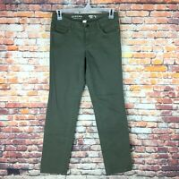 Sonoma Womens Size 6 Straight Mid Rise Green Wash Denim Jeans