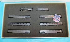 N Scale Con-Cor Union Pacific The Overland Steam Loco & Passenger Car Set LNIB