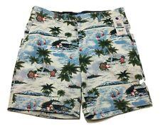 Nautica Blue Sail Aloha Beach Stretch Classic Fit Deck Shorts Men's Size 36W