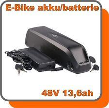 Akku E-BIKE 48V 13,6ah Lithium-Ionen schwarz black 653Wh Ladegerät LED-Anzeige