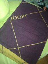 Decke Joop Neu 140x200 lila / kamelfarbig Schurwolle
