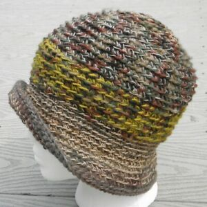 Elegant Earth Mix Colors Small Size Crocheted Cloche - Handmade by Michaela