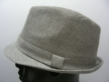 LIGHT GRAY - L/XL SIZE FEDORA TRIBLY STYLE CAP HAT!