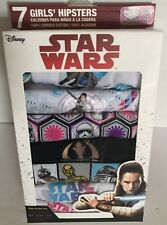Disney Star Wars Girls Hipsters Underwear Size 4 Package of 7