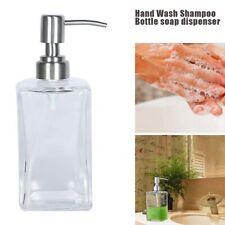 Bathroom Glass Shower Soap Essential Oils Dispenser Bottle Shampoo Pump