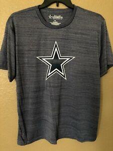 Dallas Cowboys T Shirt Blue Marl Burnout XL Quick Dry Polyester New
