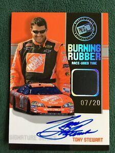 2007 Press Pass Tony Stewart Burning Rubber autograph relic /20