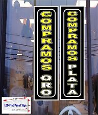 2 LED Signs COMPRAMOS PLATA & ORO (WE BUY GOLD & SILVER) in Spanish) Neon Altern