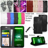 For Motorola Moto G7 Power XT1955 Wallet Leather Case Flip Cover + Stylus Touch