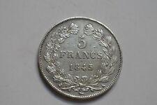 LOUIS PHILIPPE 5 FRANCS 1845 K COTE SUP 650 EUROS