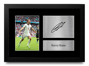 Harry Kane Signed A4 A3 Framed Printed Autograph Tottenham Spurs Print Gift
