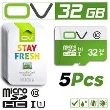 OV LOT Of 5 Pcs 32GB Micro SD SDHC Flash Memory Card Class 10 TF Bulk MicroSD 32