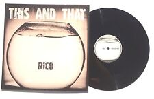 """RICO: This And That LP RICO RECORDS 12RICODJ01A UK 2004 12"""" NM+"""
