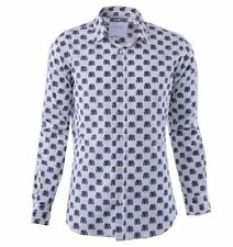 Slim Fit Button-Front Casual Shirts for Men