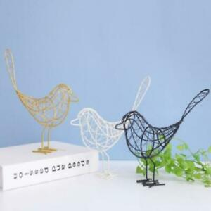 Iron Bird Figurines Nordic Abstract Statue Miniatures Animal Home Decorat*xp