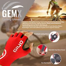 New Short Cycling Glove Fingerless Motorbike Riding Gloves Mitten For Men BMX UK
