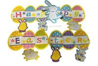 HAPPY EASTER BANNER 125cm FLAG BUNTING 2.5m DECORATION GARLAND EGG HUNTS PARTY