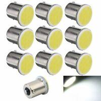 10Pcs Blanc 1156 Ba15S P21W Lampe 1156 LED Voiture Led Cob 12 SMD 12V Tensi Y2W4