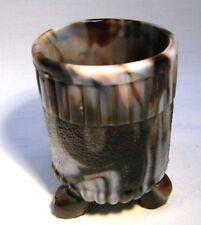 VICTORIAN SOWERBY PURPLE SLAG GLASS VASE / TOOTHPICK HOLDER 1148 1/4