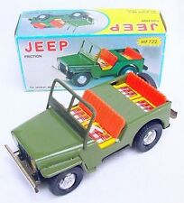 China Mf-722 Willys Jeep Wwii Us Army Vehicle Tin Friction 17cm Car Mib`76 Rare!