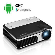 Android Smart Home Theater Projector Wireless Movies HDMI HD 1080p Kodi USB WIFI