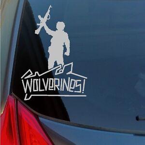 Wolverines vinyl sticker decal red dawn Soviet communist war rebel school AK-47