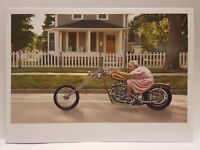 "PAPER DESTINY Happy Birthday ""Keep that Motor Running"" Humor Motorcycle Card"
