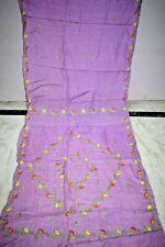Indian Blue 100% Pure Tussar Silk Sari Embroidered Border Decor Saree  Decor