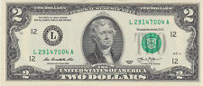 One - $2 TWO DOLLAR $2 BILL -  NEW Uncirculated Consecutive 2013 San Francisco