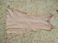BNWT JASPER CONRAN Ladies Peach Silk 100% Silk Evening Dress size 10 Petite