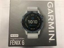 Sealed Garmin Fenix 6 Pro Solar Smartwatch Mineral Blue & Whitestone NextDayDel