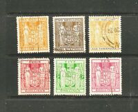 6 x New Zealand 1931, Arms Type, Set of 6 Stamps, FU