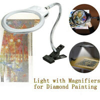 Magnifying Desk Table Top Lamp Magnifier Light Gooseneck Reading Jewelry Loupe