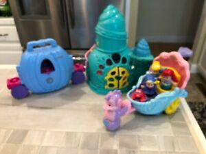 Disney Princess Ariel Musical Grotto, Shell Carriage, Cinderella - 5 Figures