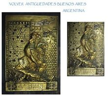 Stunning VERDUN WW I battle ON NE PASSE PAS ormolu signed French ? plaque 30 cm